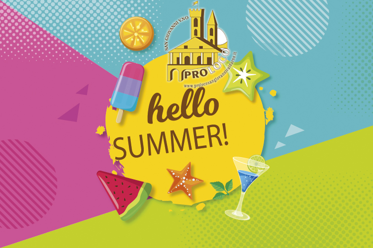 Flat Hello Summer Background2